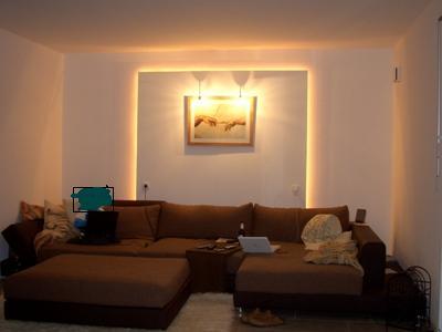 LED Stripe als Indirekte Beleuchtung Wohnzimmer Wand ...